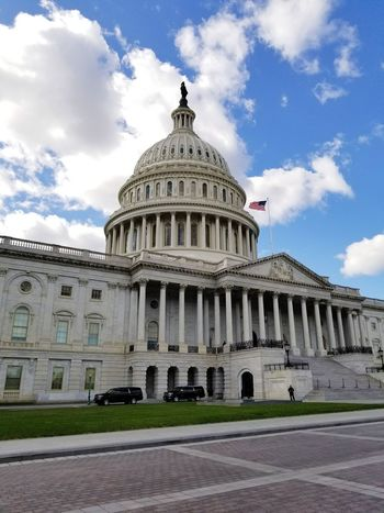 U.S. Capitol Dome Travel Destinations Architecture Government Cloud - Sky Built Structure Tourism Travel Sky Politics And Government Architectural Column Building Exterior Outdoors No People City Day EyeEmNewHere