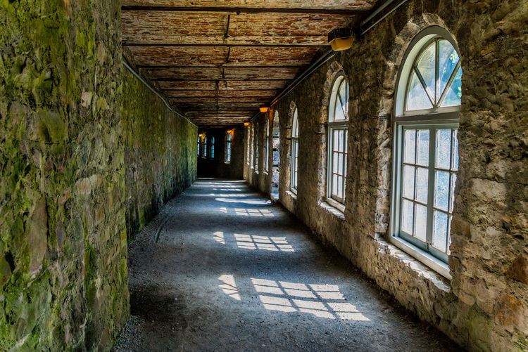 Architecture Built Structure Hallway Indoors  Indoors  Long No People Old Passage Weathered Worn Out