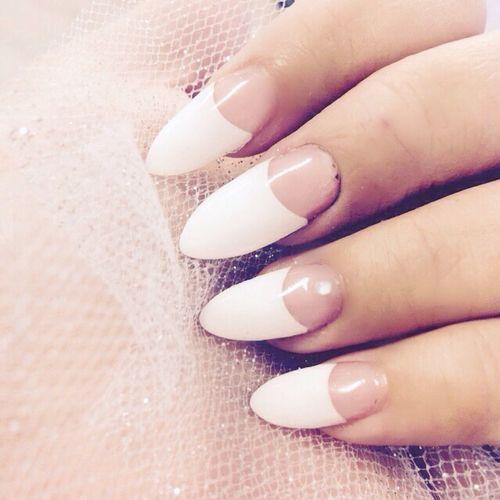 Got my nails done French Tip Nails Nails Manicure French Manicure Euphoria Gelnails Enjoying Life