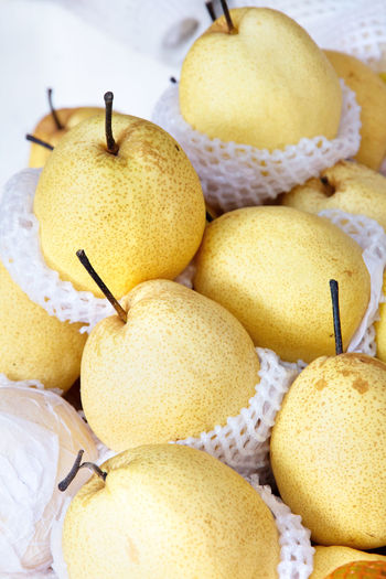 Chinese pear Market Chinese Pear Close-up Day Food Food And Drink Freshness Fruit Healthy Eating Indoors  No People Pear Still Life Yellow