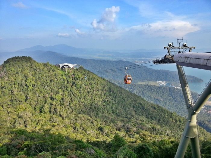 cable car, langkawi. Cable Car Mountains Scenery Langkawi