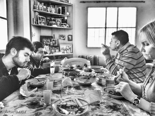 family lunch at the village Blackandwhite Black And White Monochrome Family Matters