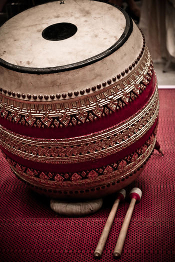 Drum Musical Instrument Red Thaidrum Thaimusicband