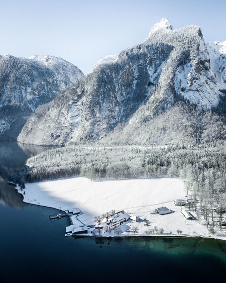 Bavaria Drone  Königssee Beauty In Nature Berchtesgaden Cold Temperature Day Germany Ice Mode Of Transportation Mountain Mountain Range Nature Nautical Vessel No People Non-urban Scene Outdoors Scenics - Nature Snow Snowcapped Mountain Tranquil Scene Tranquility Transportation Water Winter