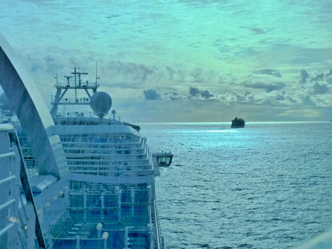 Blue Cruise Ship Day Horizon Over Water No People Ocean Rippled Scenics Sea Seascape Sky Tranquil Scene Tranquility Water