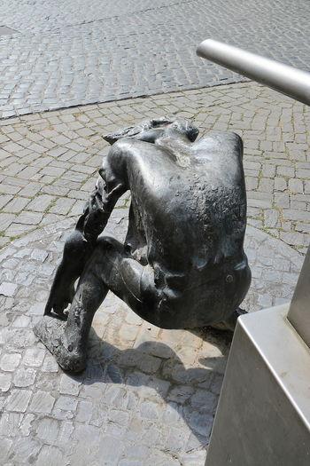 Day Headless Jena Metal Sculpture No People Outdoors Sculpture Tiered Urban Urban Sculpture Water Work