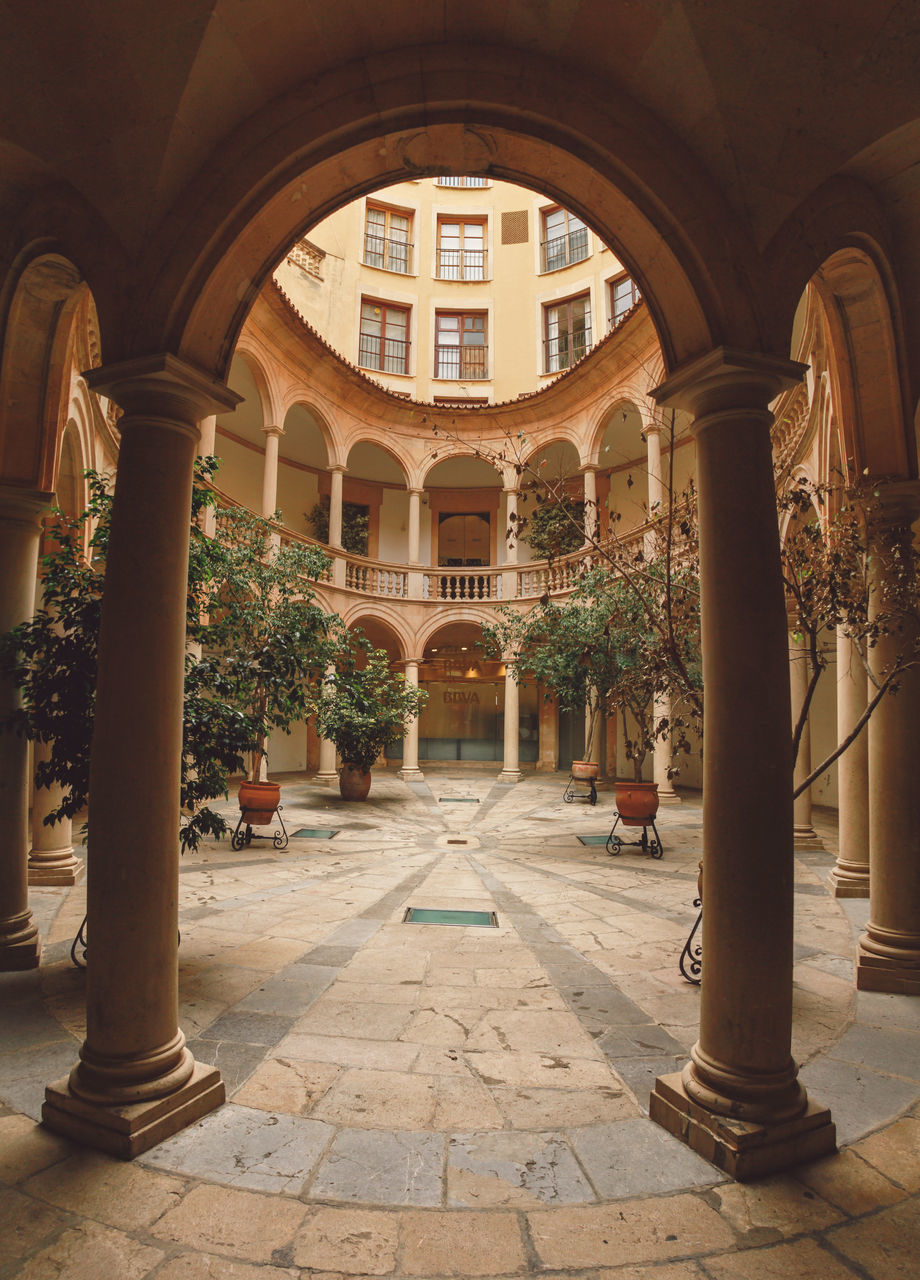 arch, architecture, architectural column, built structure, history, building exterior, day, no people, indoors