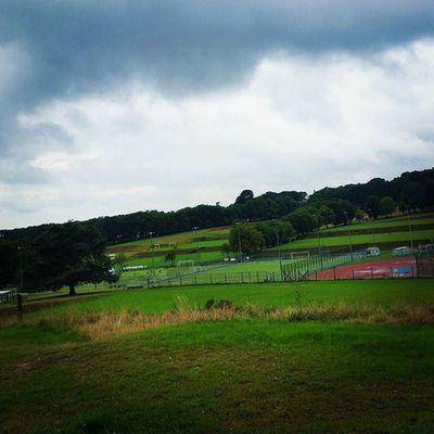 SportsCenter Dullday Hills Dogwalking Trees Clouds