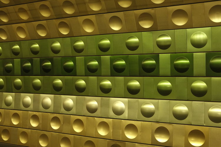 Background from a underground station in Prague Backgrounds Circles Czech Republic Dome Green Greenish Greenish Yellow Halfdome Hollow No People Nobody Pattern Underground Underground Station  Yellow