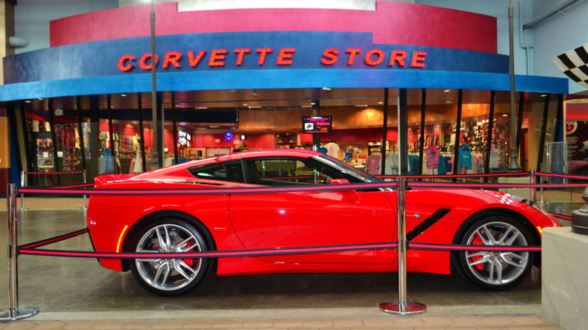 Who's gonna drive you home tonight Car City City Life Corvette Corvette Museum Illuminated Land Vehicle Mode Of Transport Motion Museum No People Outdoors Red Retail  Road Sports Car Street Tail Light Traffic Transportation Lightning Mcqueen