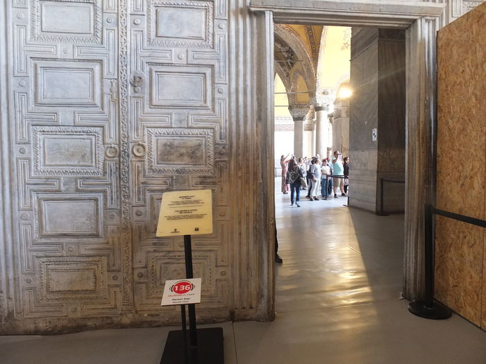 Ayasofya (Hagia Sophia) Historic Gate Architectural Column Architecture Built Structure Day History Indoors  Large Group Of People Lifestyles Men People Real People Tourism Travel Travel Destinations Women
