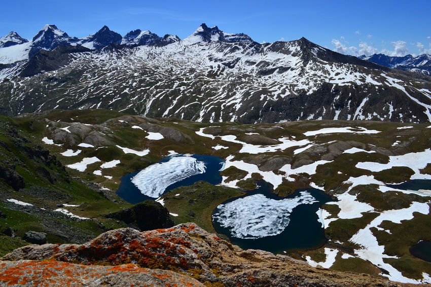 Gran Paradiso Hiking Parco Nazionale Del Gran Paradiso Trekking Beauty In Nature Cold Temperature Day Explore Iceberg Lake Landscape Mountain Mountain Range Nature No People Outdoors Physical Geography Scenics Sky Snow Snowcapped Mountain Tranquil Scene Tranquility Winter