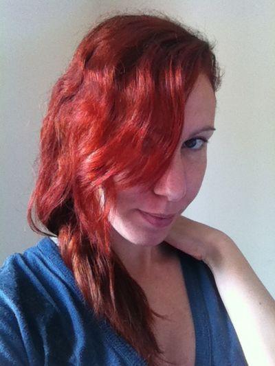 Red Redhair Hi! selfportrait