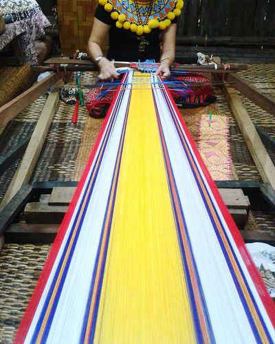 Culture. Grace Adults Only Day Culture Heritage Vibrant Colors Sewing By Hand Tradition Ancestry Long House Sarawakculturevillage Borneo Island Handmade Crafts EyeEmNewHere Red Yellow White Blue EyeEm Diversity