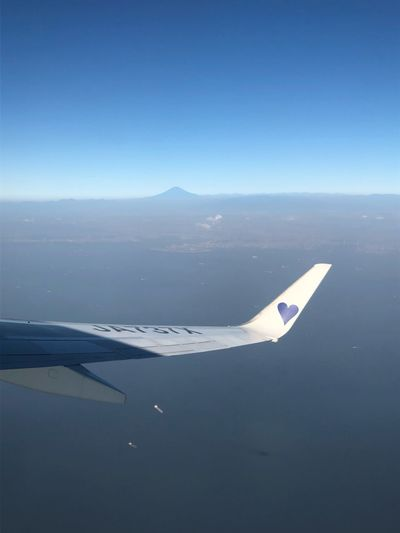 地平線の富士山☆ Mtfuji Skymark Airlines Skymark Airplane Air Vehicle Sky Transportation Scenics - Nature Water Aerial View