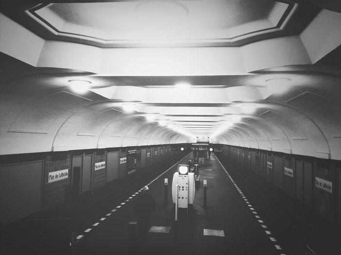 Illuminated underground walkway