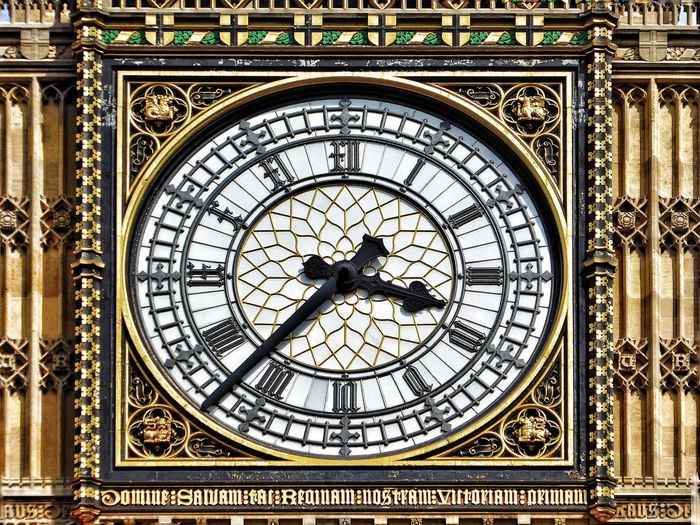 Close-up of big ben clock face