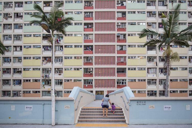 Childhood. Architecture Landscape Childhood Rainbow HongKong Estate Kowloon Parenting Walking Learning Child Streetphotography Symmetry