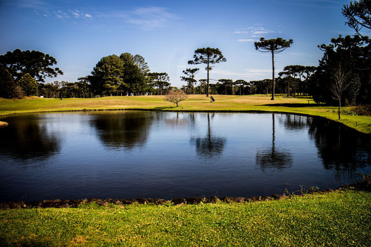 Gramado Golf Cl Gramado, Brazil Beauty In Nature Cloud - Sky Day Golf Course Golf Course View Grass Green Color Growth Lake Landscape Nature No People Outdoors Reflection Scenics Sky Tranquil Scene Tranquility Tree Water