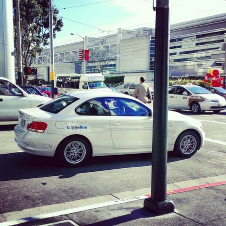 DriveNow ActiveE BMW in action downtown SF. #DriveNow #CarSharing Drivenow Carsharing
