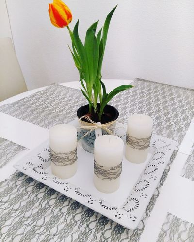 Candle Indoors  Table Flower No People Home Sweet Home Homedecor