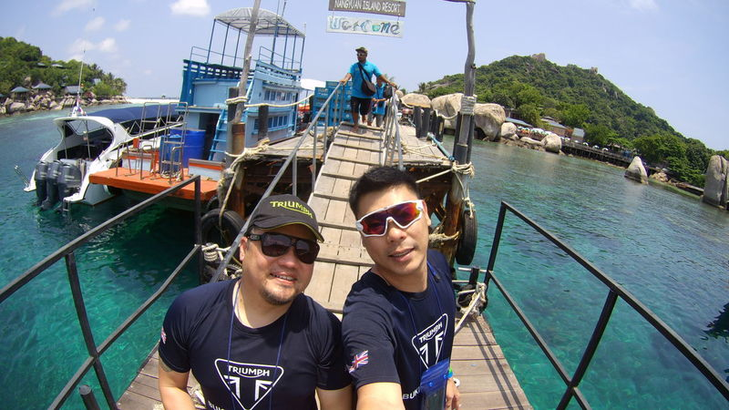 Two People Togetherness Sunglasses Adult Day People Adults Only Outdoors Portrait Young Adult Men Brotherhood Vacations Sea Water Nautical Vessel Standing Looking At Camera Real People Koh Samui Amazing Thailand Cloud - Sky Travel Destinations Sunny Koh Nangyuan