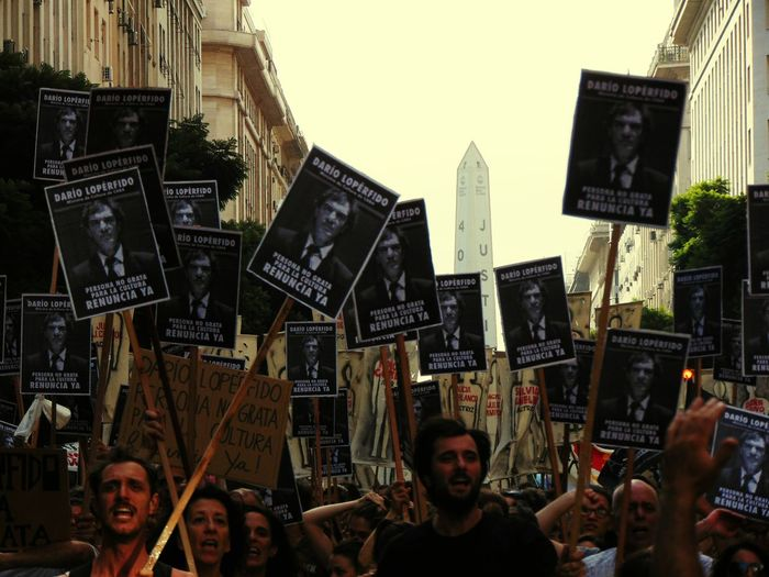 Buenosaires Buenos Aires Protest Protesters Artists Workers Art Worker Loperfido Protesta Budget Angry Argentina