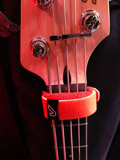 Red Music Hanging No People Musical Instrument Day Close-up Outdoors Fretwrap Bass