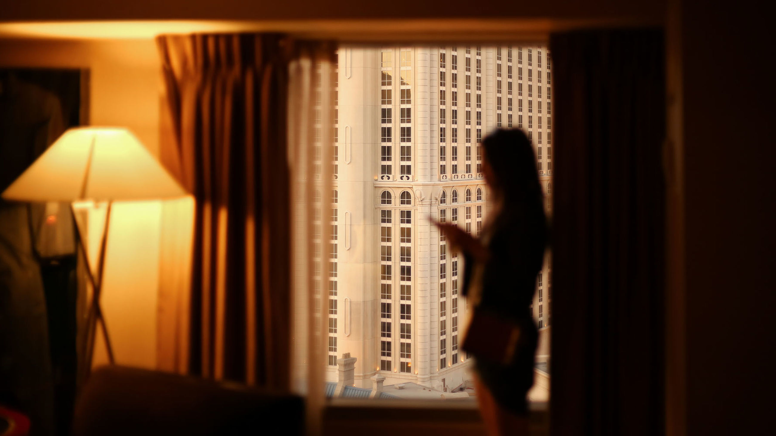 indoors, curtain, window, drapes, home interior, one person, selective focus, real people, standing, lifestyles, bedroom, day, close-up, people