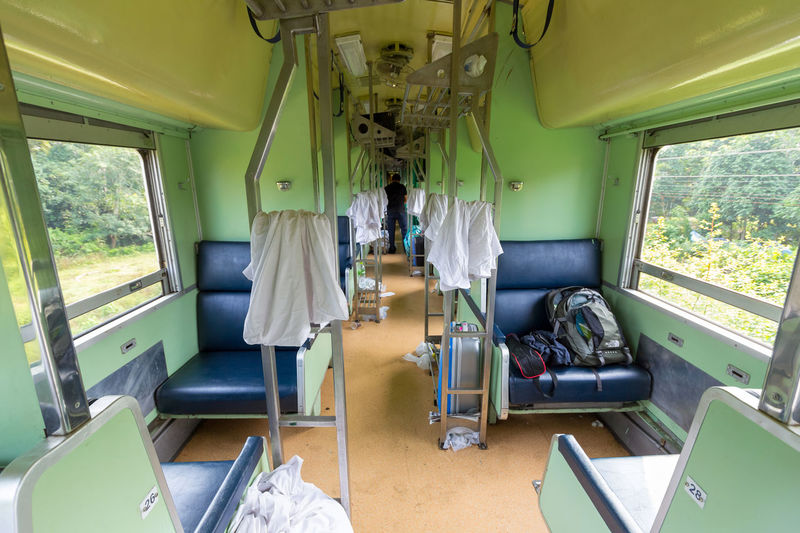 Southern Train in Thailand Bangkok - Su-ngai Kolok 2rd Class sleeping car (fan) in the morning Thai Train Train Interior Travel Day Passenger Train Rail Transportation Seat Sleeping Car Train Train - Vehicle Transportation Vehicle Seat Window