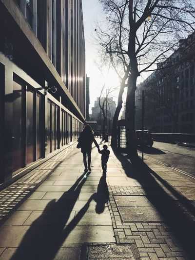 Building Exterior Built Structure City Real People Architecture Sunlight Outdoors Tree Two People City Life Day Mother Son Family Tourists London West End Adults Only People Sky Adult