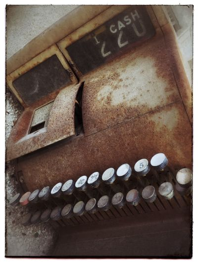 Rusty old cash register. Cash Register Rust