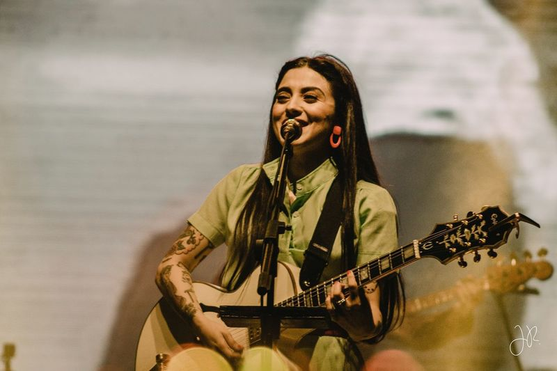 Mon Laferte Monlaferte Musical Instrument Music One Person String Instrument Playing Guitar Performance Real People Guitarist Musician Arts Culture And Entertainment Musical Equipment Artist Young Adult Electric Guitar