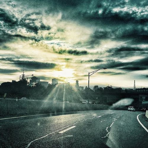 On the way home from the doctors. Even though I have been sick all week I have still managed to get some really good shots here and there. Positivity Rochesterny  ROC Roctopshots Thisisroc Fall 2015  Vscocam Snapseed Clouds Color Explore HDR Rochesterredwings Frontierfield Highway IPhoneography