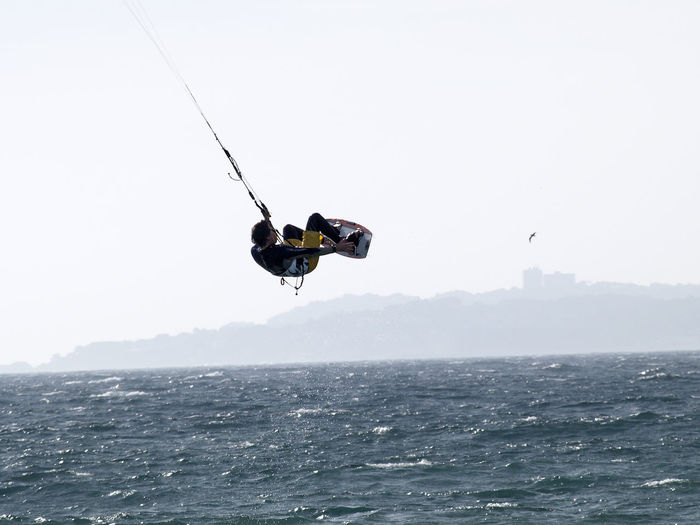 Kite-surfers in