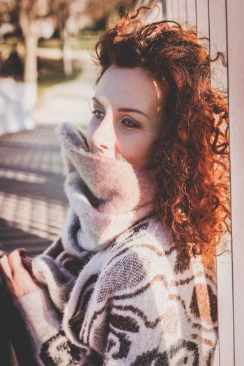 9of Woman Sitting On Footbridge