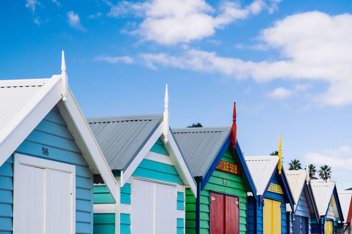 Painted bathing boxes at Middle Brighton beach, Melbourne, Victoria, Australia Australia Australian Bathing Box Bathing Boxes Beach Beach Huts Brighton Beach Clapboard Colorful Colourful Melbourne Middle Brighton Painted Timber Weatherboards Wooden Neighborhood Map