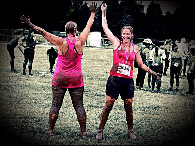 My sisters finishing the muddy run for cancer research uk Mid Adult Competition Sports Race Adult Running Sports Clothing Celebration Outdoors Togetherness Track And Field Athlete Day People Full Length Competitive Sport Sport Endurance Young Adult Sportsman Only Men RaceForLife Charity Event Muddyrace CancerResearch Cancerresearchuk