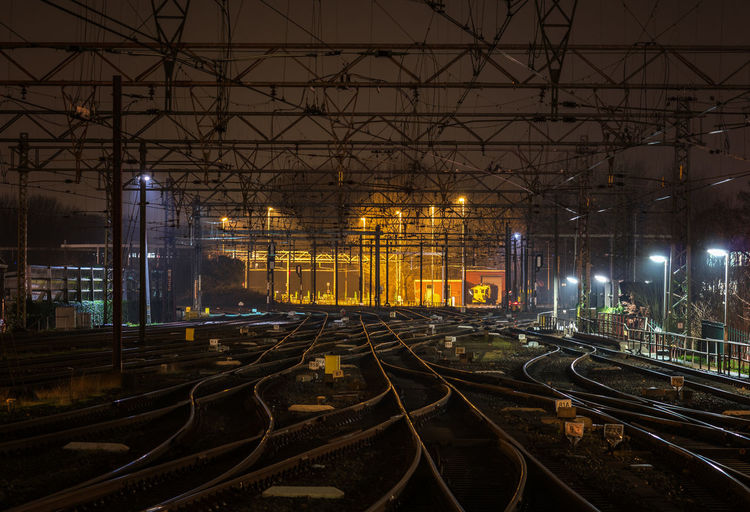 railroads at night Railroad Track Railway Empty Night Transportation Transport Business Rail Transportation Railroad Track City Illuminated Built Structure Railway Track Railway Station Platform Railway Signal Railroad Platform Railroad Tie Railway Station Public Transportation