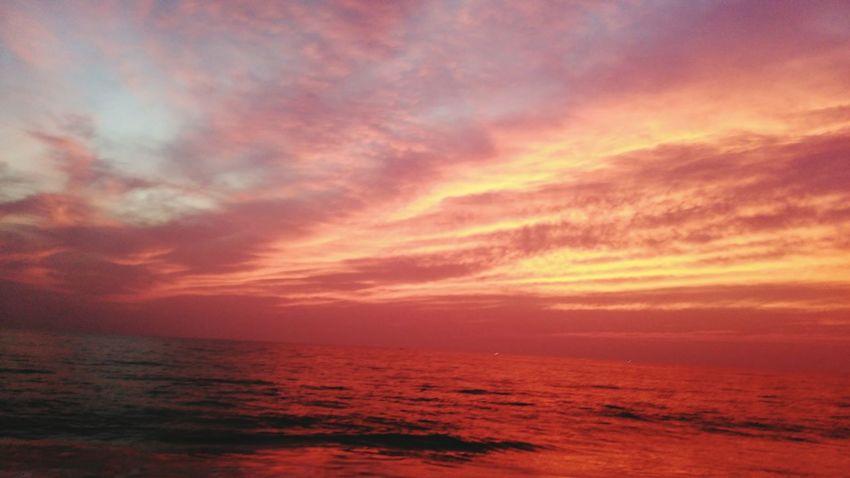 A golden sunset taken from shangumukham beach.. Sunshine First Eyeem Photo