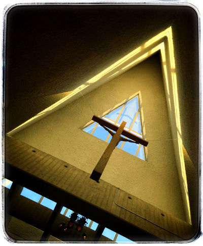 Rising towards the light. Photography Photo Of The Day Iphone 5 Church Cross Light