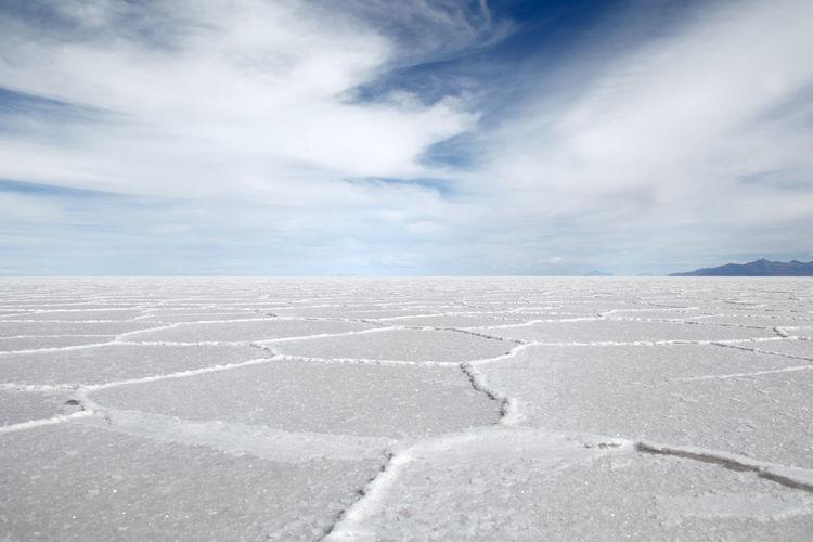 Landscapes With WhiteWall Blue Wave Salar De Uyuni Bolivia