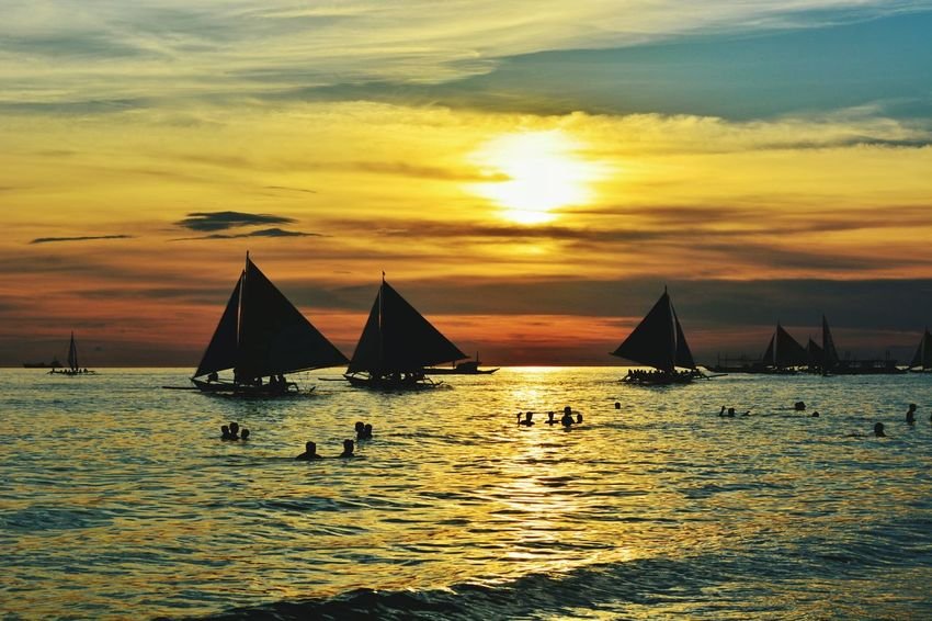 Paraw sunset Wheninboracay Sunset Sea Silhouette Vacations Nautical Vessel Water Nature Lifestyles Outdoors People Landscape Sky Beauty Beauty In Nature One Person Day Sunset_collection EyeemPhilippines Eyeem Philippines Eyeem Photography EyeEm Best Shots EyeEmPhilppines EyeEm EyeEm Phillipines