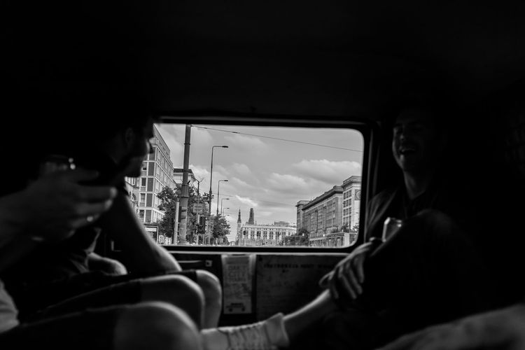 Warsaw Activity Architecture Built Structure Car City Glass - Material Indoors  Land Vehicle Lifestyles Men Mode Of Transportation Nature People Public Transportation Real People Transparent Transportation Travel Vehicle Interior Window It's About The Journey The Street Photographer - 2019 EyeEm Awards