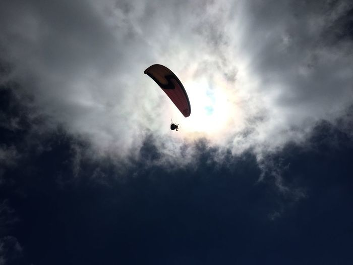 Paragliding Sky Sky And Clouds Summer Mountains Switzerland