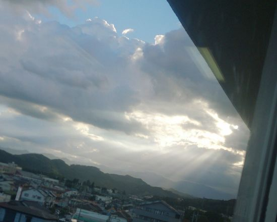 Crepuscular Rays Angel's Ladder Angel's Stairs 天使の梯子