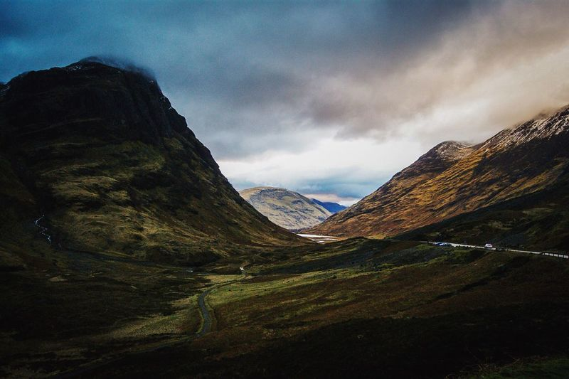 Glencoe, Scotland Mountain Non-urban Scene Tranquil Scene Scenics Landscape Sky Tranquility Mountain Range Physical Geography Geography Scotland Wild Landscape Scotland Glencoe First Eyeem Photo Solitude Valley My Favourite Place The Great Outdoors - 2017 EyeEm Awards