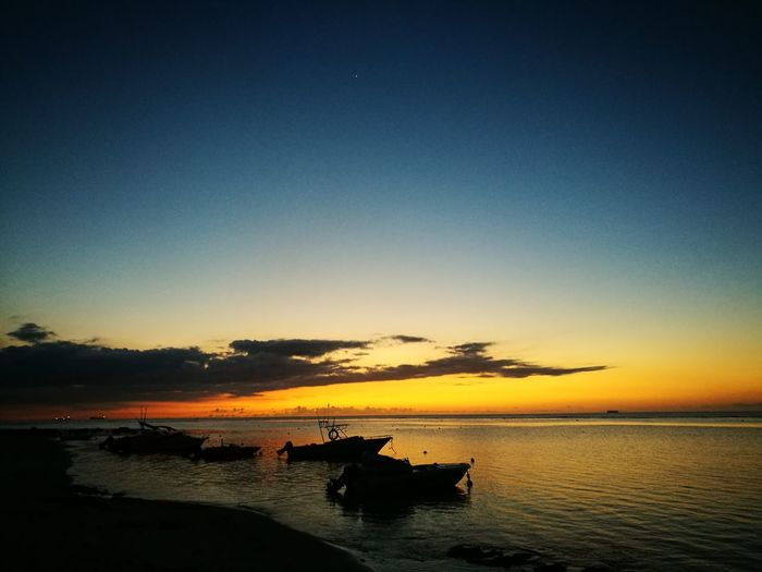 Sun set in mauritius