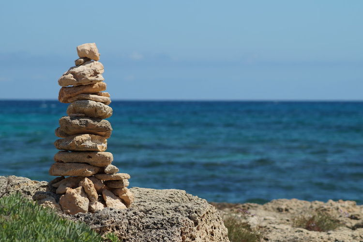 Mallorca Coast Heap Of Stones Pile Of Stones Rocks Sea Sea And Rocks Sea And Sky Sky Stones Stones & Water Water Waterfront