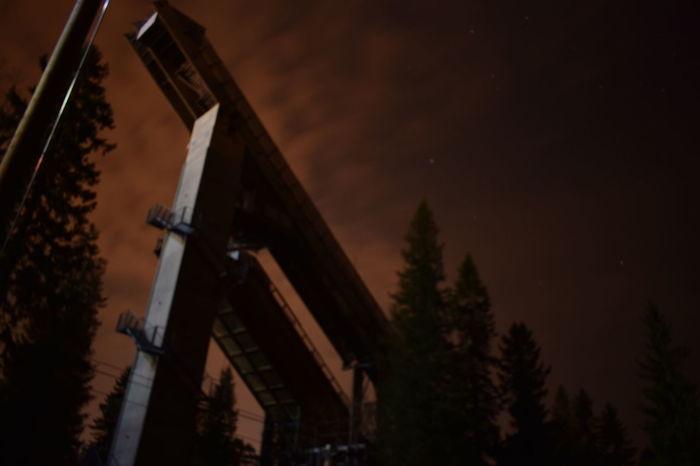 Illuminated Nature Night No People Outdoors Sky Sunset Tree Architecture Long Exposure Skyjump